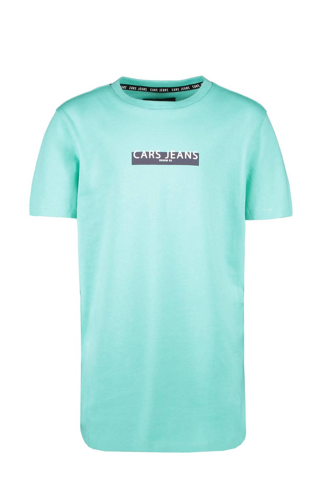 Cars T-shirt Combroy met tekst mintgroen, Mintgroen