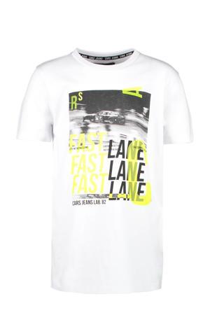 T-shirt Perrish met printopdruk wit