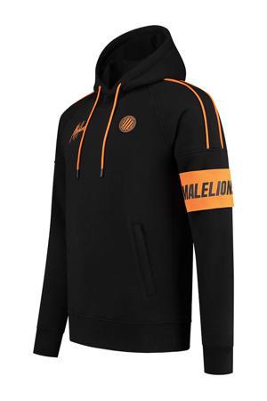 hoodie zwart/oranje