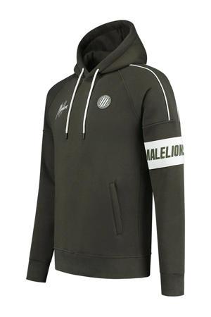 hoodie groen/wit