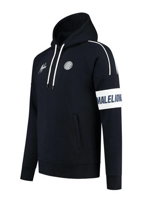 hoodie donkerblauw/wit