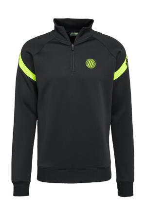 sweater zwart/neon