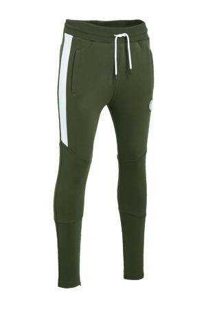 joggingbroek groen/wit