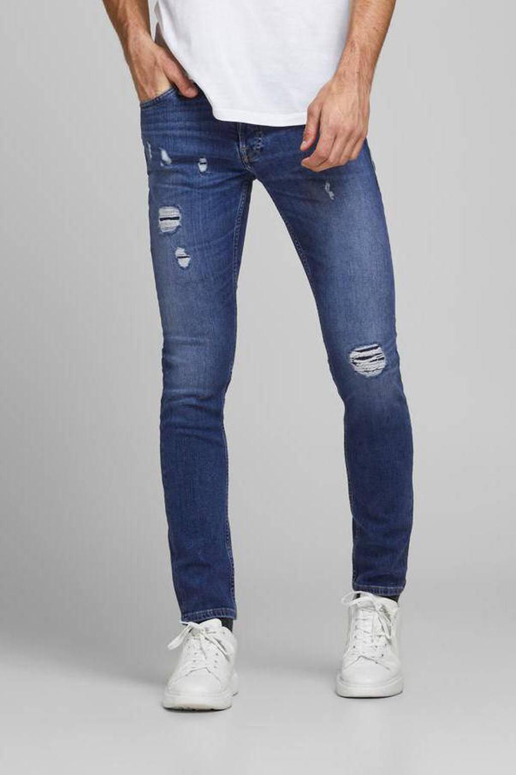 JACK & JONES JEANS INTELLIGENCE slim fit jeans Glenn blauw, Blauw