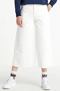 Tommy Jeans high waist culotte white rigid, White rigid