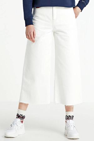 high waist culotte white rigid