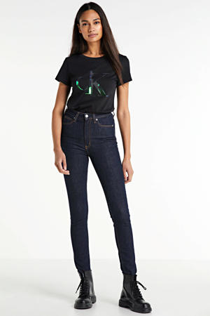 high waist skinny jeans amsterdam blue rinse