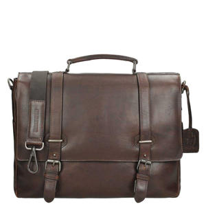 Roma Briefcase 2 Compartments dark zwart