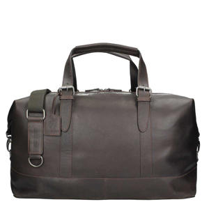leren Dakota Travel Bag zwart