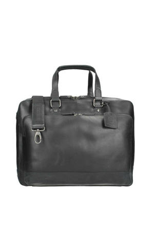 15 inch leren business tas Dakota zwart