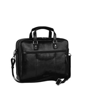 13,3 inch Roma Zipped Briefcase 2 Compartments zwart