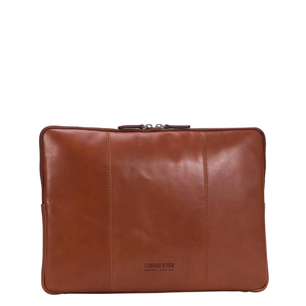 Leonhard Heyden  15.4 inch Cambridge S laptopsleeve cognac, Bruin
