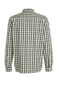 C&A geruit regular fit overhemd van biologisch katoen bruin/wit, Bruin/wit