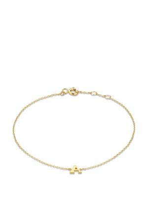 14 karaat gouden armband letter N - IB1001202-N
