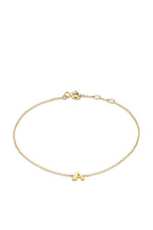 14 karaat gouden armband letter A - IB1001202-A