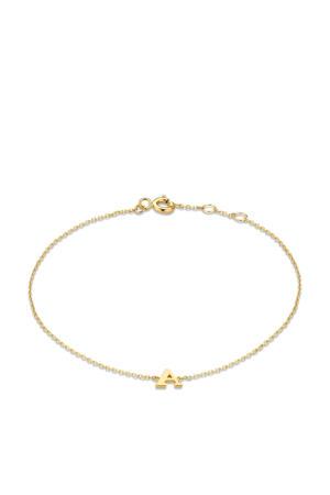 14 karaat gouden armband letter D - IB1001202-D