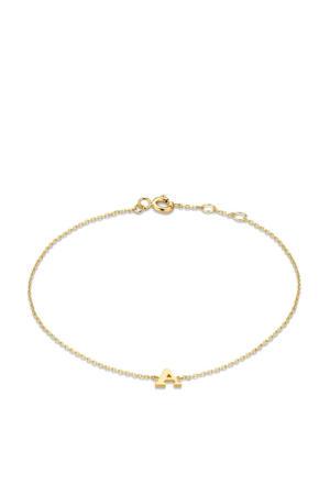 14 karaat gouden armband letter H - IB1001202-H