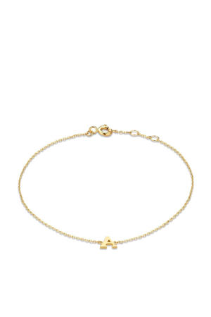 14 karaat gouden armband letter S - IB1001202-S