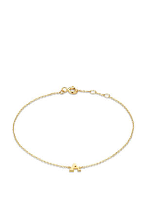 14 karaat gouden armband letter J - IB1001202-J