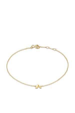 14 karaat gouden armband letter M - IB1001202-M