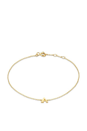 14 karaat gouden armband letter F - IB1001202-F