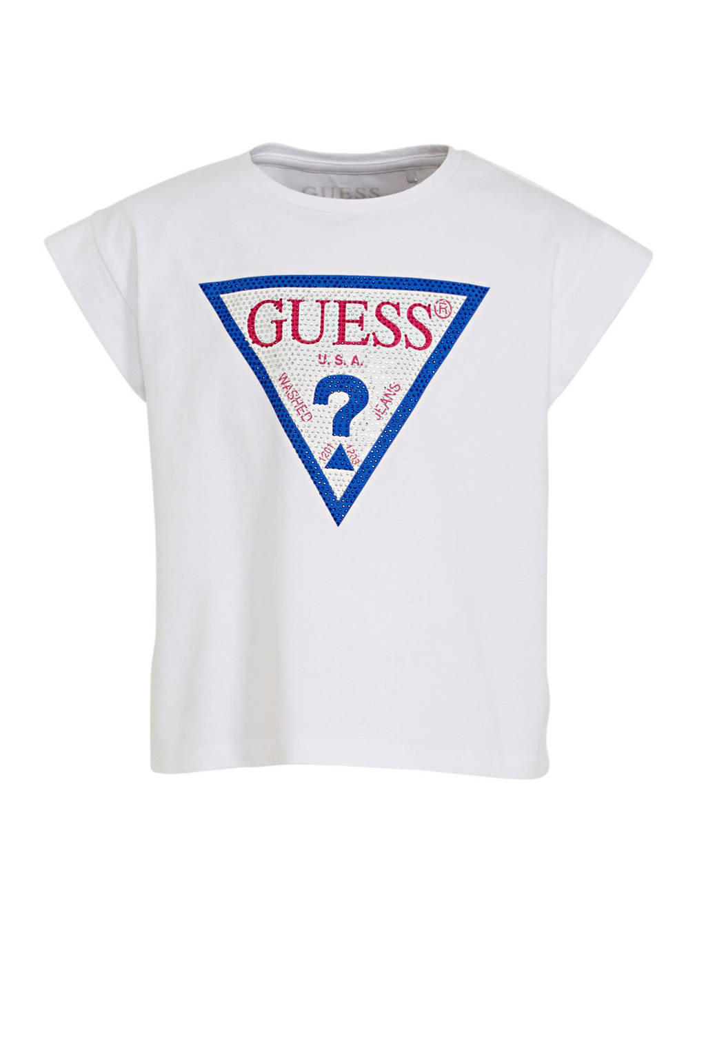 GUESS T-shirt met logo wit, Wit