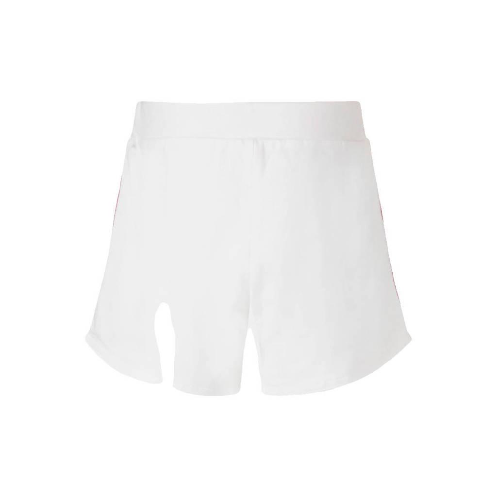 GUESS regular fit sweatshort met zijstreep wit/geel, Wit/geel