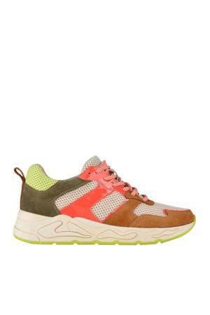 Minion  suède chunky sneakers bruin/multi