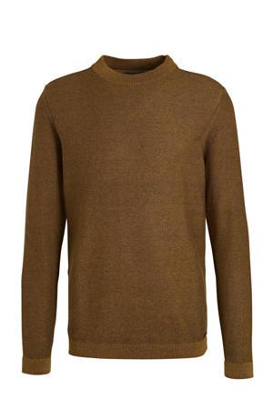 fijngebreide trui bruin