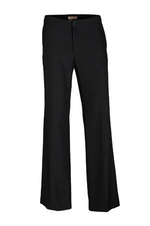 straight fit broek crepe satin zwart
