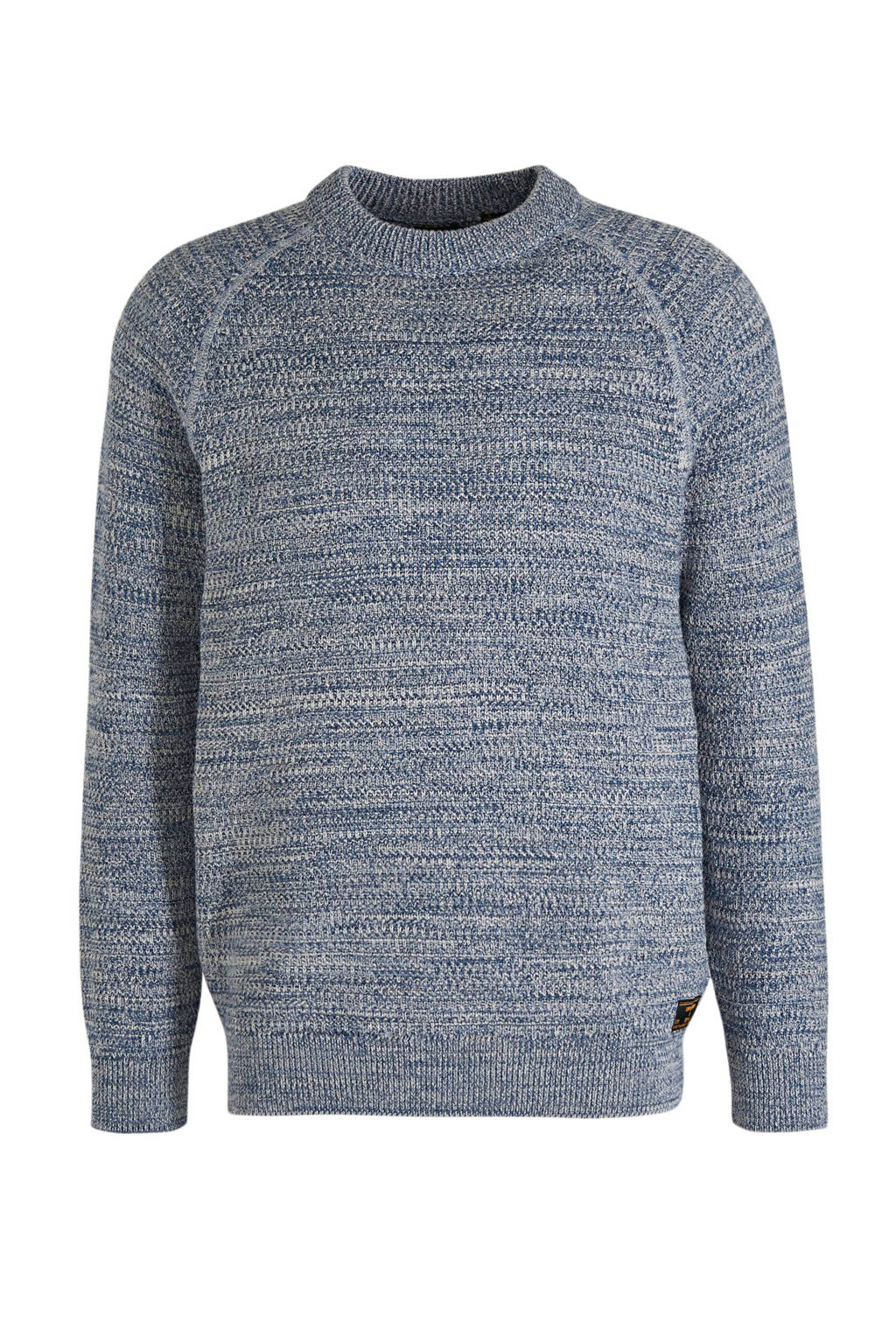 Superdry gemêleerde trui KEYSTONE CREW blauw, Blauw