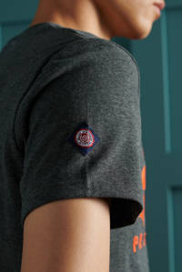 Superdry T-shirt met logo donkergrijs, Donkergrijs