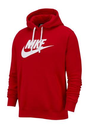 hoodie rood/wit