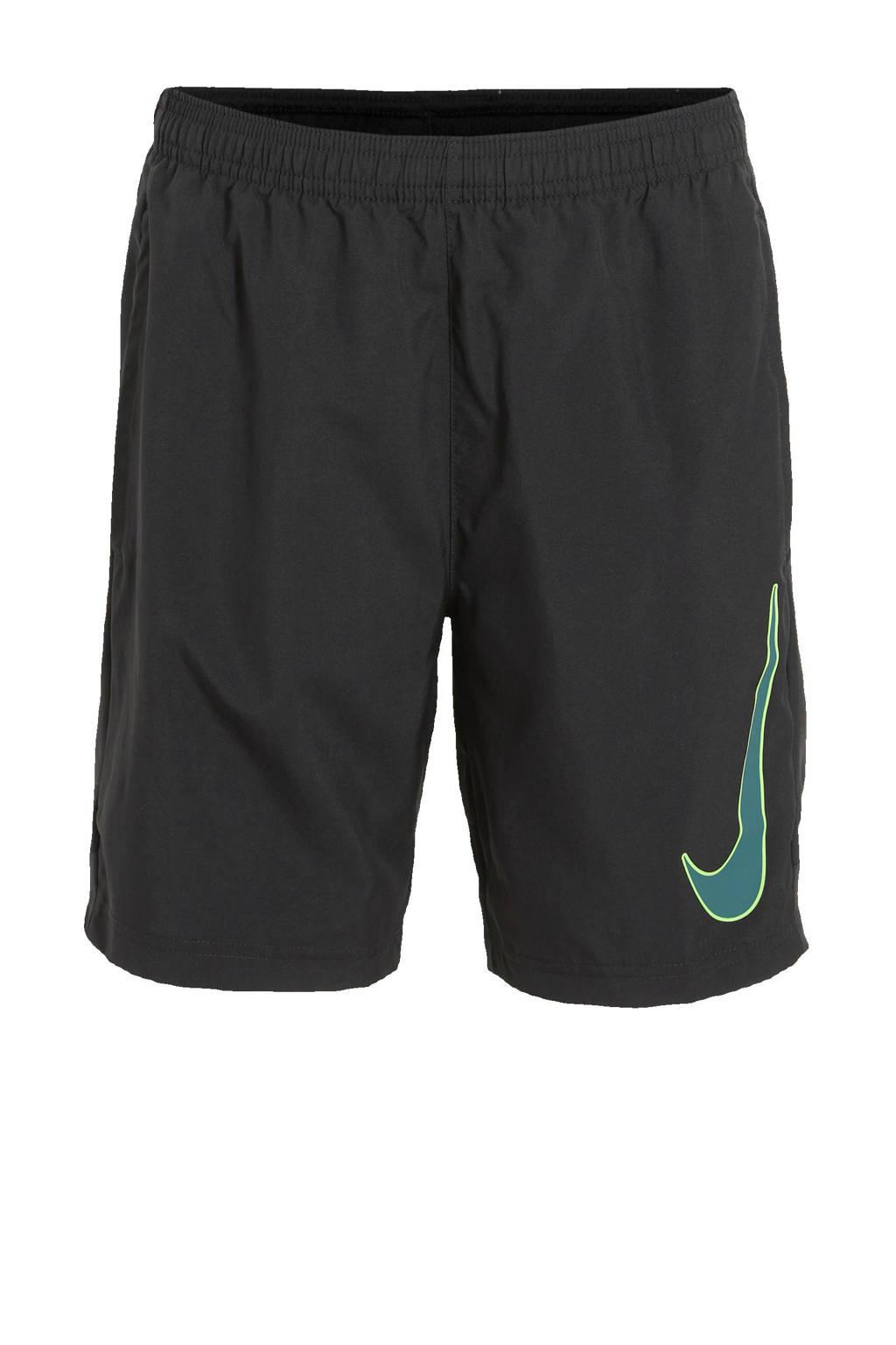 Nike Junior  sportshort zwart/blauw, zwart/zwart/blauw