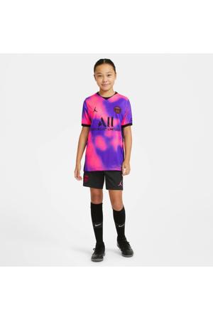 Junior Paris Saint Germain voetbalshort zwart/felroze