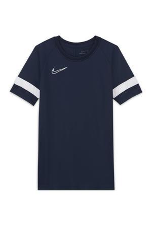 Junior  voetbalshirt donkerblauw/wit