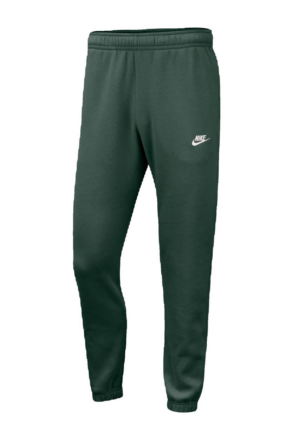 Nike regular fit joggingbroek donkergroen, Donkergroen/wit