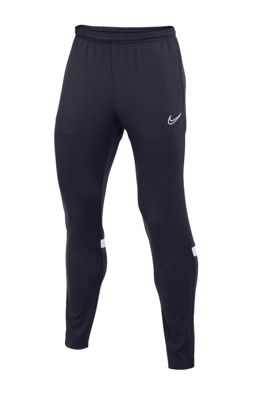 Nike Senior  voetbalbroek donkerblauw/wit, Donkerblauw/wit
