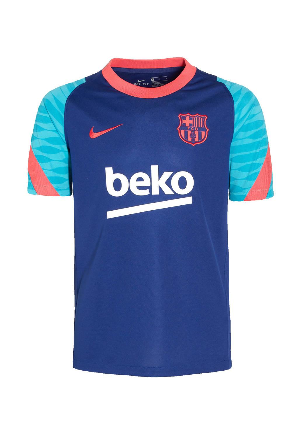 Nike Junior  voetbalshirt kobaltblauw/rood, Kobaltblauw/rood