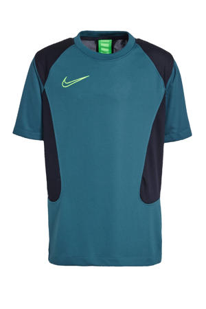 voetbalshirt donkergroen/zwart/felgroen