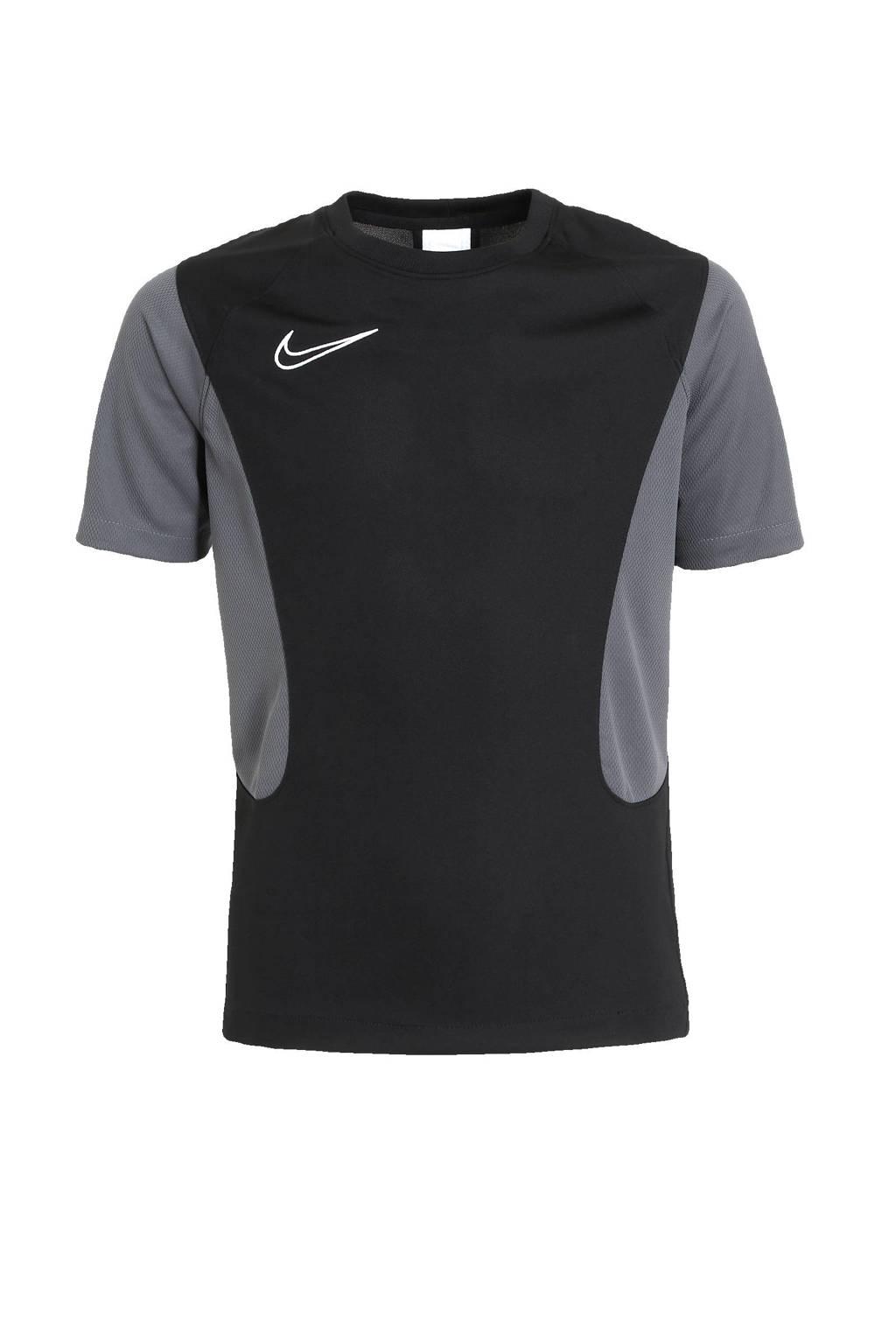 Nike Junior  voetbalshirt zwart/donkergrijs/wit, Zwart/donkergrijs/wit