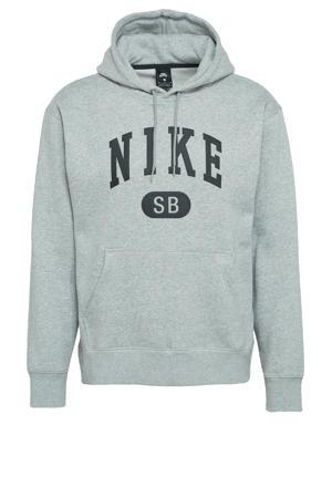 hoodie grijs melange/zwart