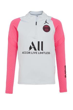 voetbalshirt grijs/roze/zwart