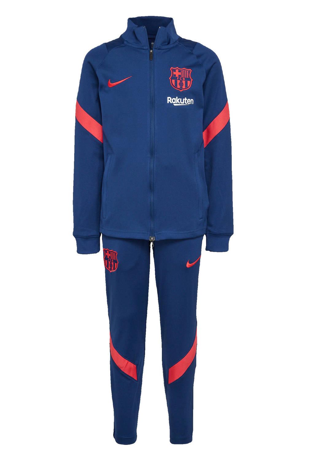 Nike Junior FC Barcelona trainingspak kobaltblauw/rood, Kobaltblauw/rood