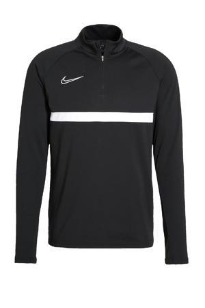 Senior  voetbalshirt zwart/wit