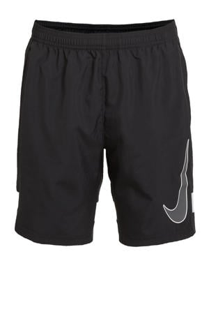 Junior  sportshort zwart/wit