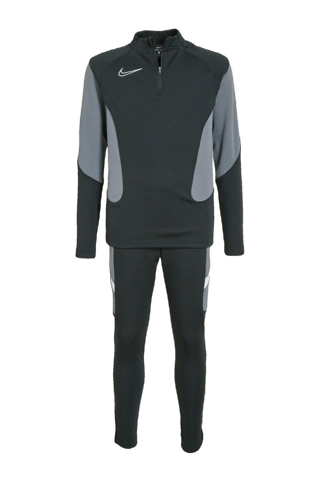 Nike Junior  trainingspak zwart/grijs, Zwart/grijs