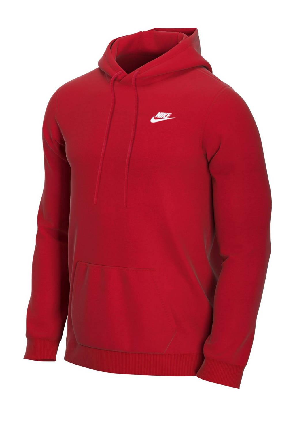 Nike hoodie rood/wit, Rood/wit