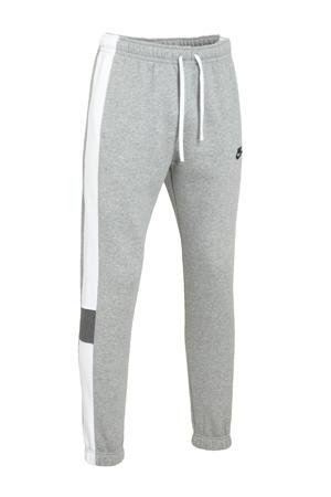 joggingbroek grijs melange/wit/zwart