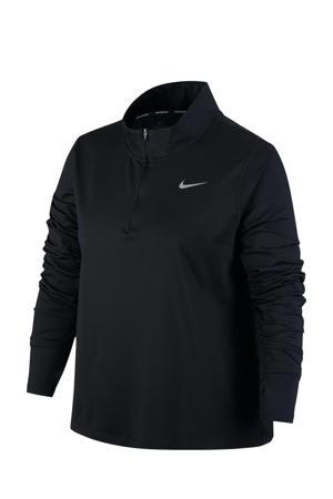 Plus Size sport T-shirt zwart/zilvergrijs